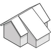 Gable Roof with Shed Roof Addition