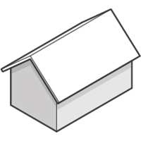 Open Gable Roof